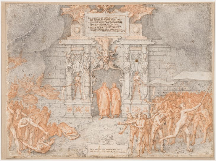 The Gates of Hell (Inferno, Canto II) (1586–88), Federico Zuccari.
