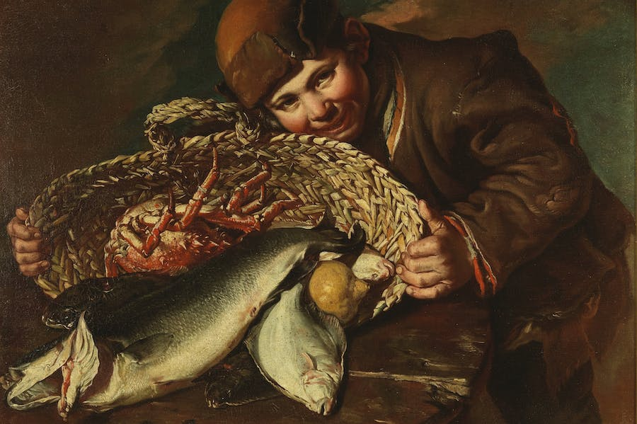 Boy with a Basket of Fish and Lobsters (18th century), Giacomo Ceruti.