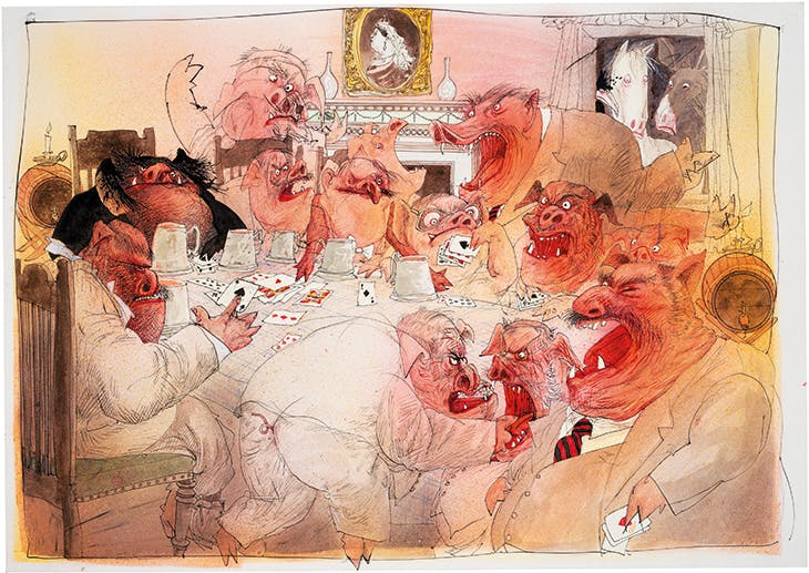 The Pigs Become Men, The Enemy Within (1995), Ralph Steadman.