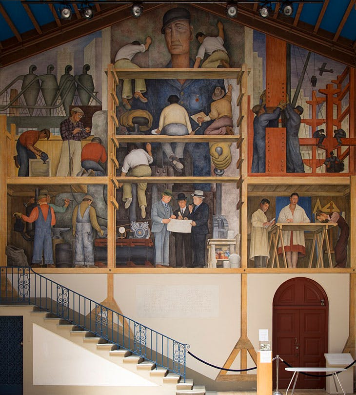 The Making of a Fresco Showing the Building of a City (1931), at the San Francisco Art Institute.