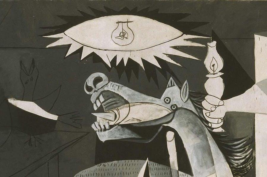 Guernica (detail; 1937), Pablo Picasso.