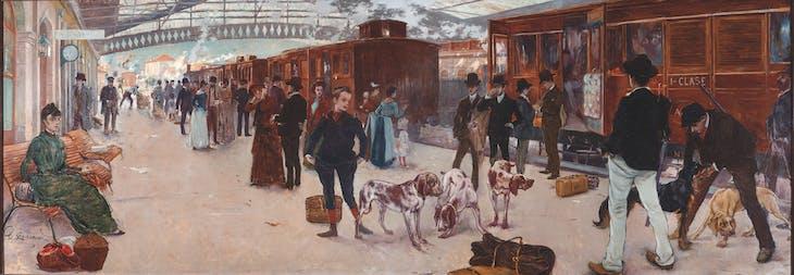 Hunters at North Station (1887), Adolfo Guiard.