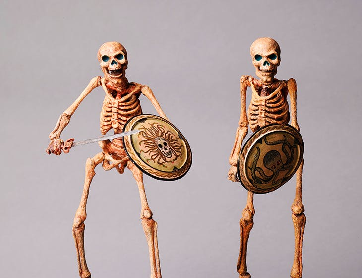 Original skeleton models from Jason and the Argonauts (c. 1962), Ray Harryhausen (armature by Fred Harryhausen).