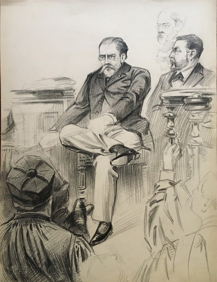 Zola on trial (1898), Maurice Feuillet.