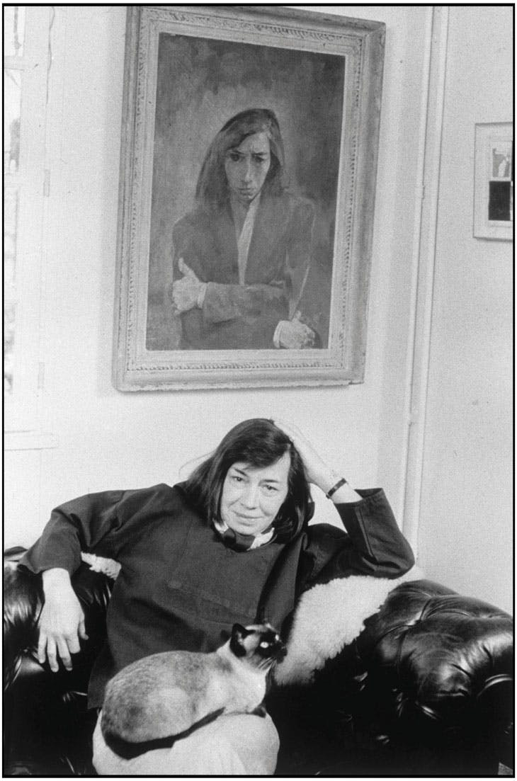 Patricia Highsmith, photographed by Martine Franck at her home near Fontainebleau in 1974.