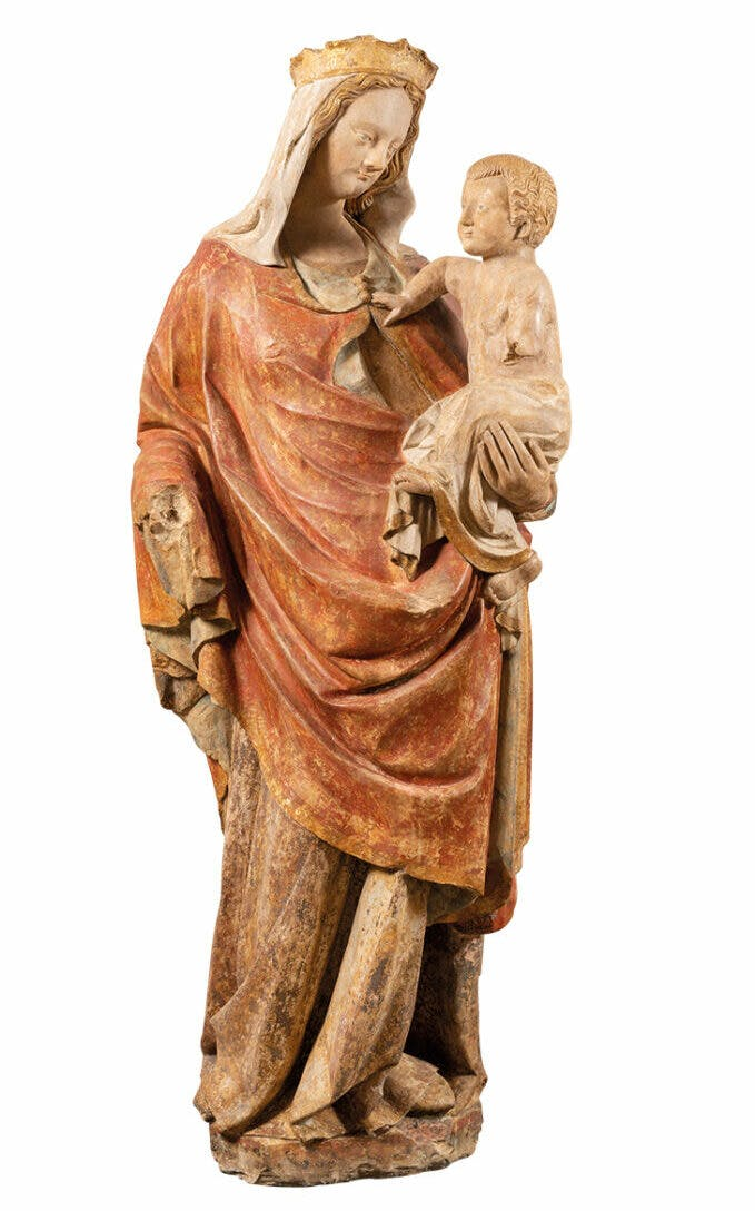 Virgin and Child (c. 1400), eastern Normandy or French Vexin. Galerie Sismann (price on application)