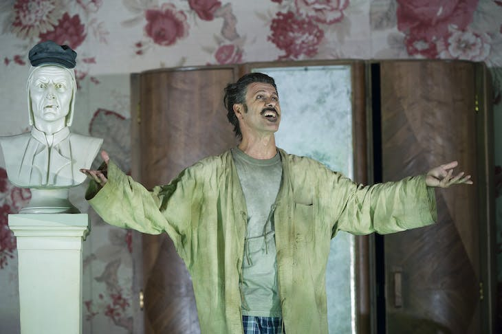 Lucio Gallo as Gianni Schicchi in Gianni Schicchi (composed 1917–18), Giacomo Puccini, performed at the Royal Opera House in London in 2011.