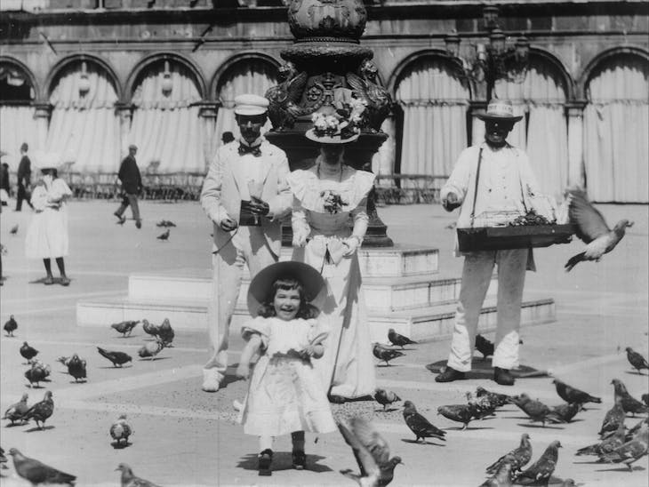 Still from Venice, Feeding the Pigeons in St. Mark's Square.