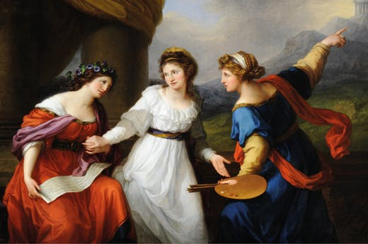 Self-portrait of the Artist Hesitating Between the Arts of Music and Painting (1794), Angelica Kauffman. Nostell Priory, West Yorkshire.