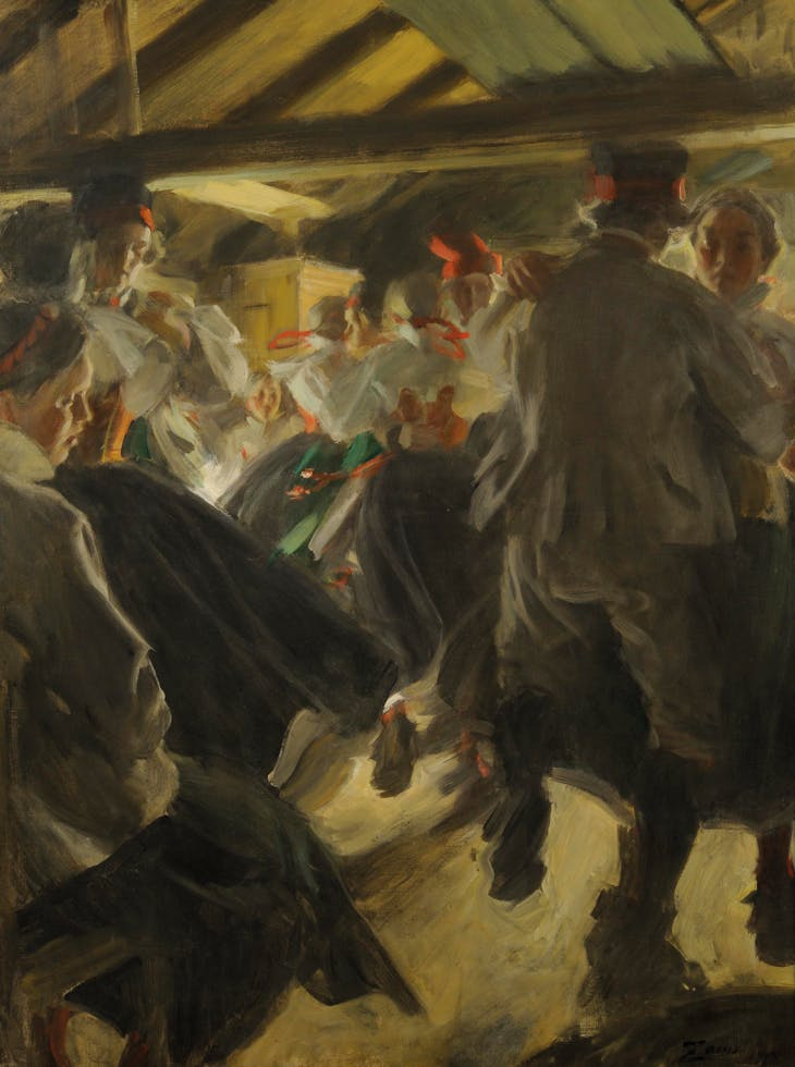 Dance in Gopsmor Cottage (1914), Anders Zorn. Zornmuseet, Mora