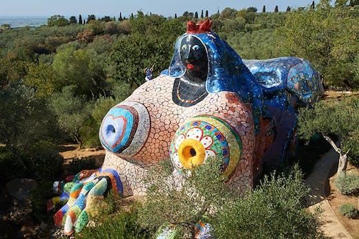 The Empress in the Tarot Garden at Garavicchio.