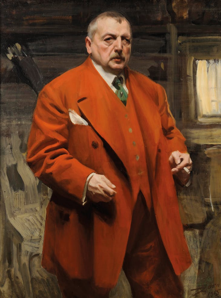 Self-portrait in Red (1915), Anders Zorn. Zornmuseet, Mora