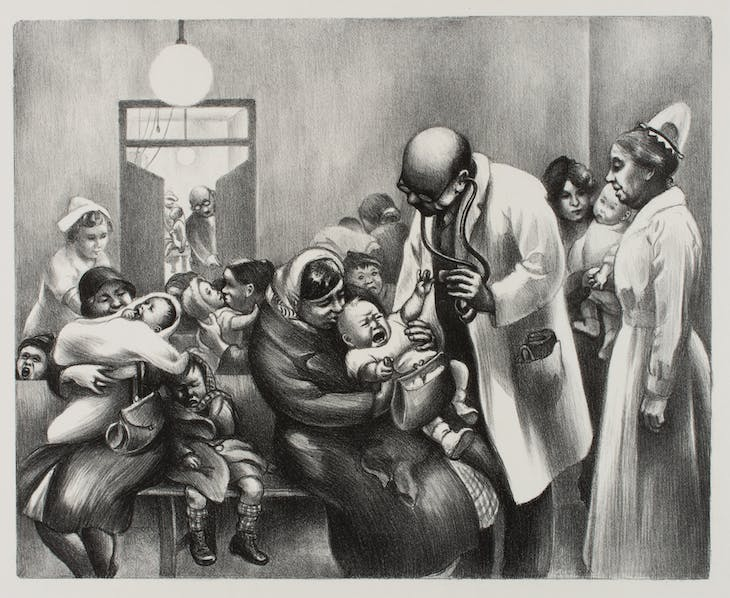 Children's Clinic (#2) (1936), Mabel Dwight.
