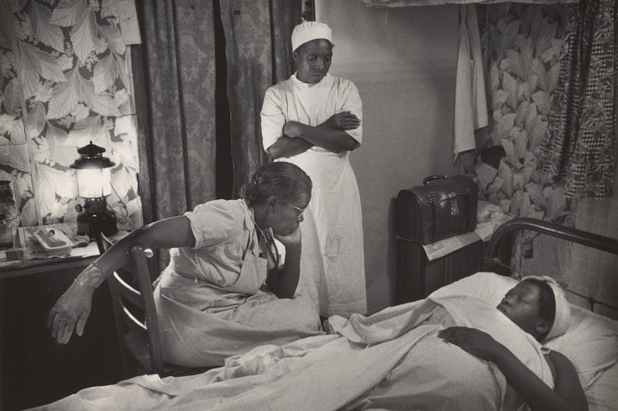 Untitled (from Nurse Midwife) (detail; 1951), W. Eugene Smith