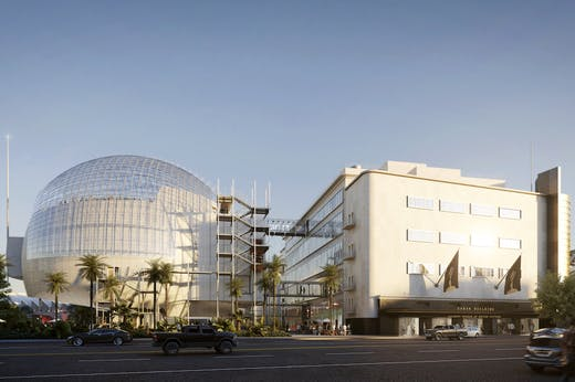 Render of the Academy Museum of Motion Pictures