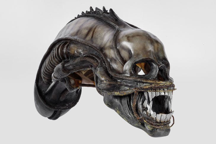 Creature-head designed by H.R. Giger for Alien (1979)