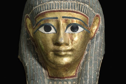 Mummy mask of a man (detail; c. 100 BC), Lahun, Egypt.