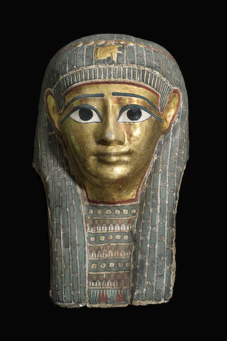 Mummy mask of a man (c. 100 BC), Lahun, Egypt.