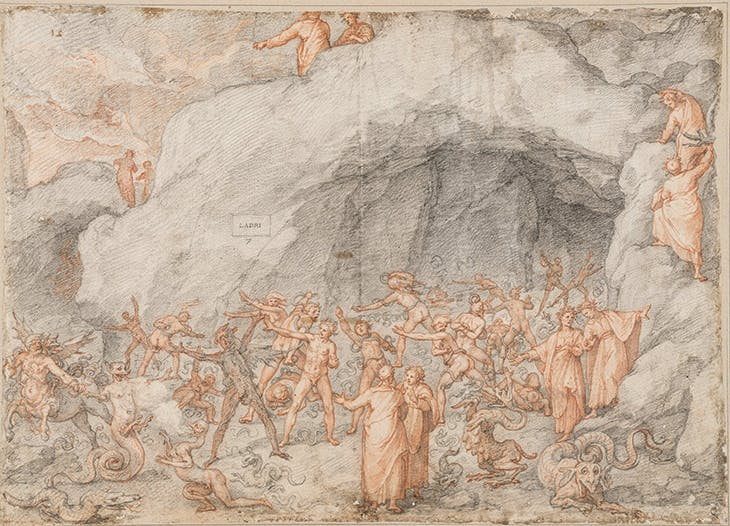 Inferno (Canti XXIV–XXVI) (1586–88), Federico Zuccari.