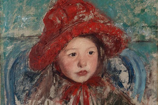 Little Girl in a Large Red Hat (c. 1881), Mary Cassatt. Princeton University Art Museum