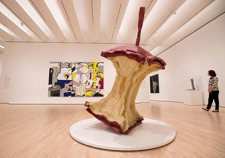 Installation view of Claes Oldenburg and Coosje van Bruggen's Geometric Apple Core (1991) at SFMOMA in 2016.