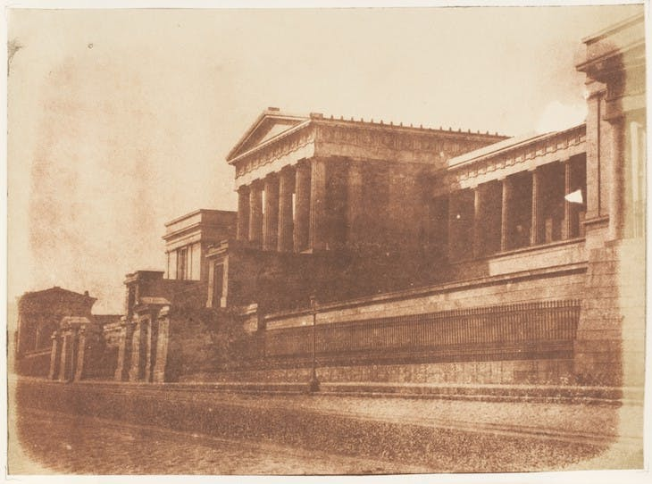 The old Royal High School photographed in 1843–47 by David Octavius Hill and Robert Adamson.