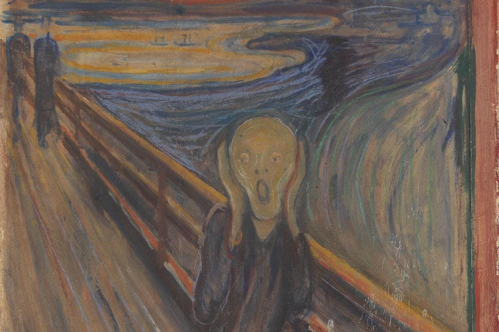 The Scream (detail; 1893), Edvard Munch.