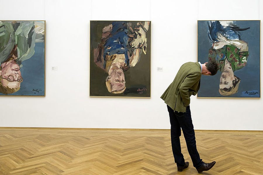Upside down, you're turning me… paintings by Georg Baselitz at the Albertinum in Dresden.