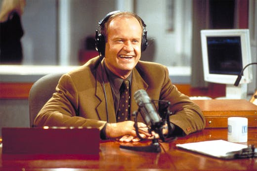 Schlock jock: Kelsey Grammer as Frasier.Photo: Gale Adler/Paramount