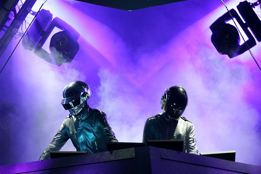 Casque strength: Daft Punk performing in 2006.