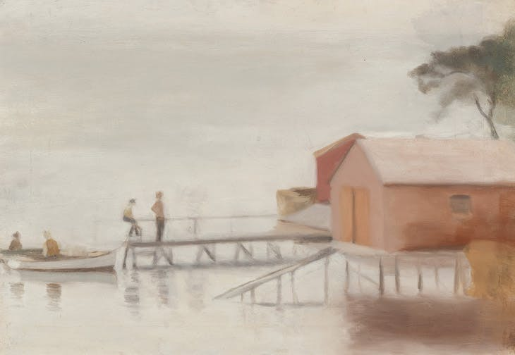 The Boatshed (1929), Clarice Beckett.