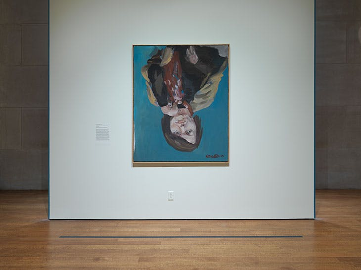 Installation view of 'Georg Baselitz: Pivotal Turn' at the Metropolitan Museum of Art, New York, 2021.