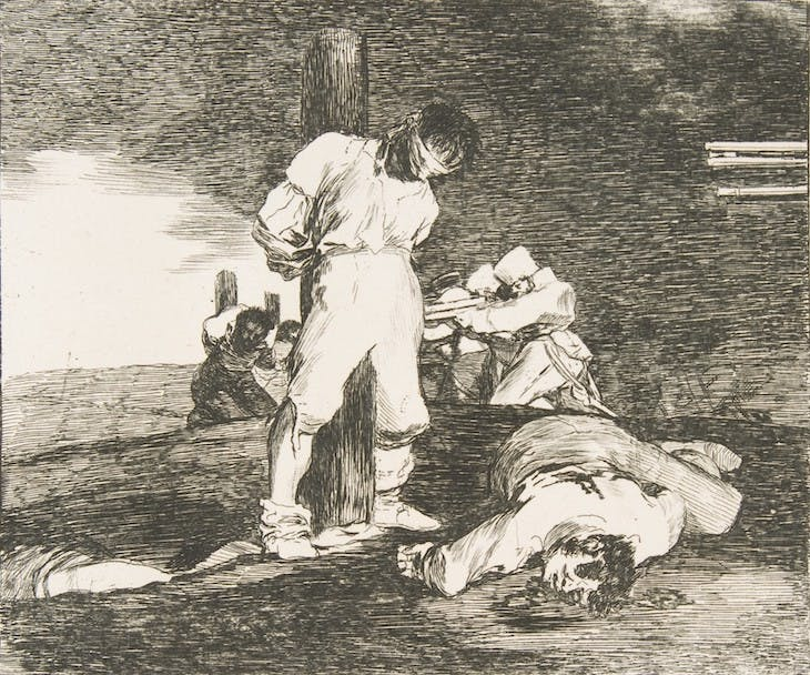 Plate 15 from The Disasters of War: 'And there is no help.' (1810), Francisco de Goya.