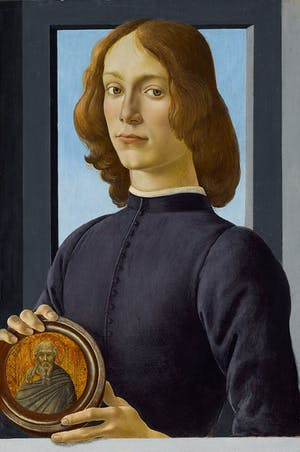 Young Man Holding a Roundel (c. 1480), Sandro Botticelli. Photo: courtesy Sotheby's New York