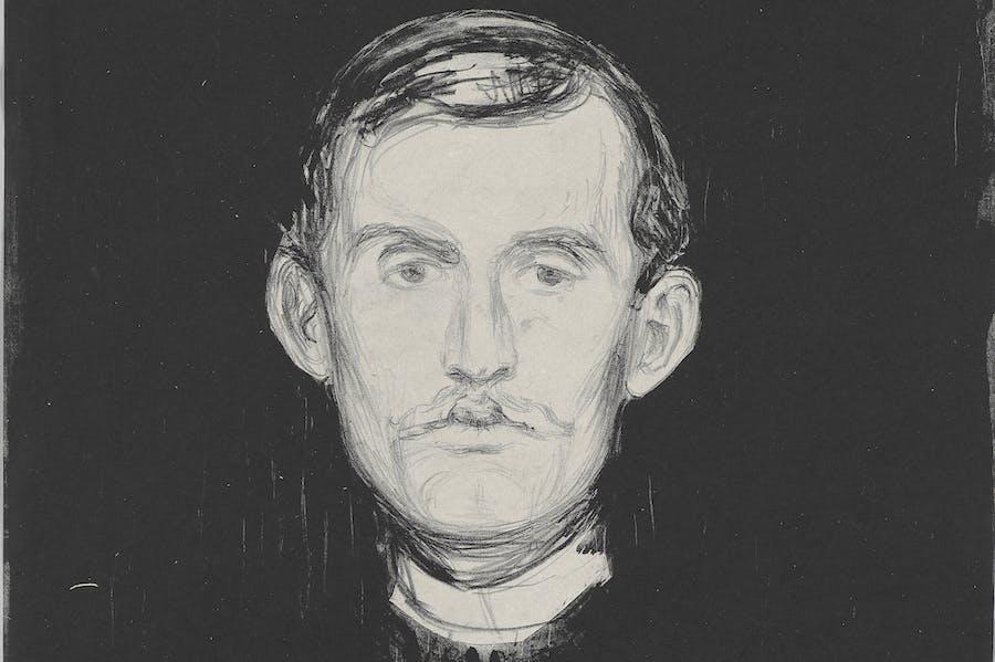 Self-Portrait (detail; 1895), Edvard Munch.