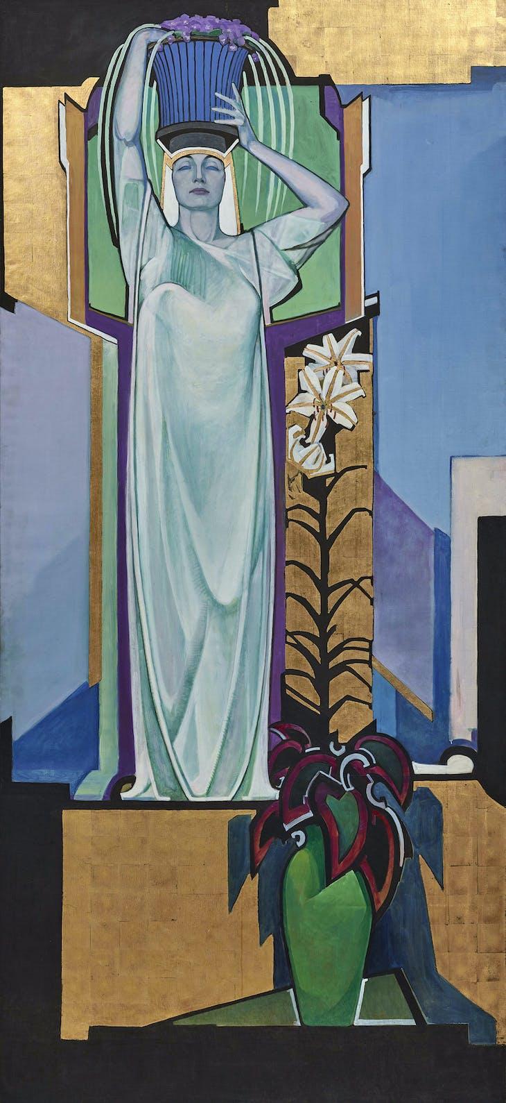 In Exaltation of Flowers (Golden-Banded Lily-Violets) (1913), Edward Steichen.
