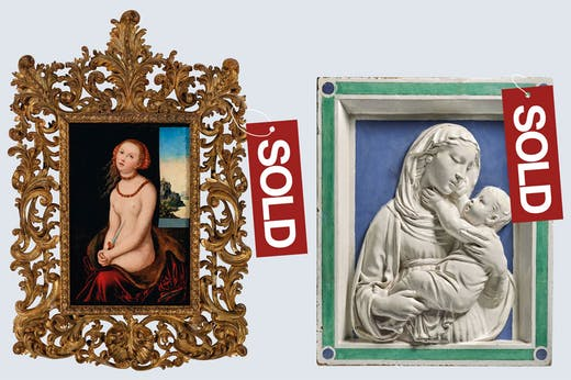Sale of the centuries: works deaccessioned by the Brooklyn Museum (left) and the Albright-Knox Art Gallery since the relaxation of AAMD guidelines.