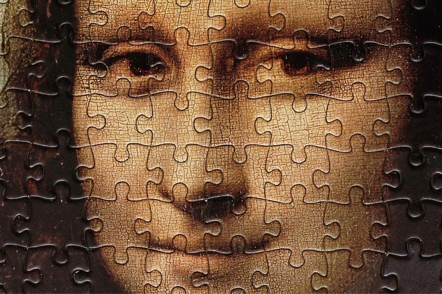 Lockdown Lisa: La Gioconda as a jigsaw.