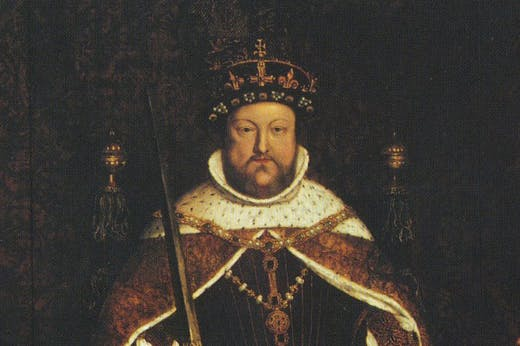 Crowning Glory? Henry VIII wearing the lost Tudor crown in a portrait by Hans Holbein.