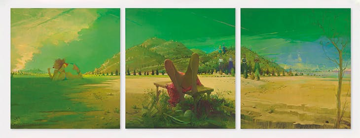 Triptych (2010–11), Lisa Yuskavage. Private collection.