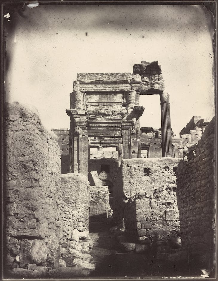 Temple of Bel, cella entrance (1864), Louis Vignes.