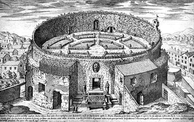 Engraving of the Mausoleum of Augustus (1575), Étienne Dupérac