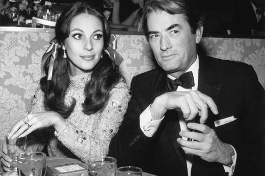 Véronique and Gregory Peck in 1967.
