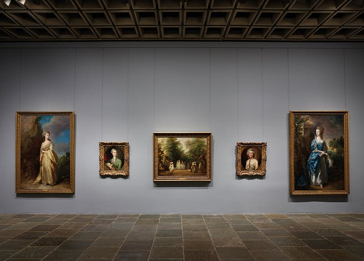 Five paintings by Thomas Gainsborough on the fourth floor of the Frick Madison.