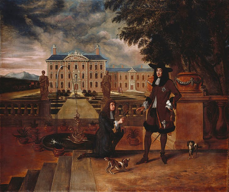Charles II presented with a pineapple (c. 1675–80), unknown artist (British school).