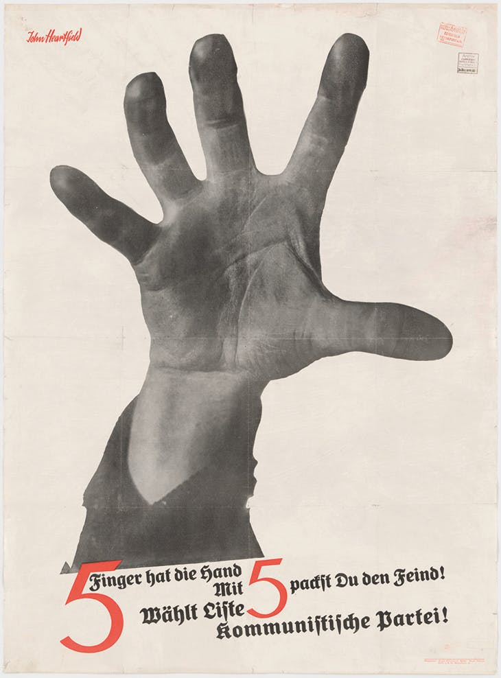 The Hand Has Five Fingers (campaign poster for German Communist Party) (1928), John Heartfield. The Museum of Modern Art, New York