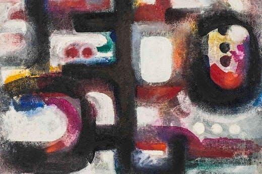 Talisman rojo (detail; 1967), Ahmed Cherkaoui.