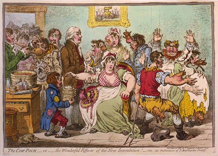 The Cow-Pock (1802), James Gillray. Library of Congress, Washington, D.C.