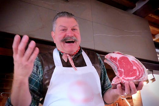 Steak night: Dario Cecchini grills a rib-eye, inspired by a still life by Jacopo Chimenti