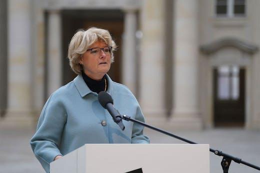 German culture minister Monika Grütters at the Humboldt Forum in Berlin.